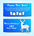 new year banners set vector image vector image