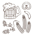 Octoberfest cartoon design elements 1 vector image vector image