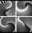 op art patterns vector image vector image