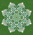 ornamental round lace with damask vector image vector image