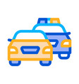 police and criminal car icon outline vector image vector image