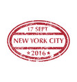 postal stamp from new york vector image