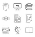 printer icons set outline style vector image vector image