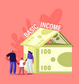 property insurance universal basic income concept vector image