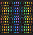 rainbow striped triangle mosaic pattern seamless vector image vector image