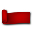 Red curled ribbon vector image vector image