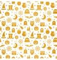 Seamless Halloween gold textured pattern vector image vector image