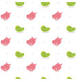 seamless pattern crocodile and hippo vector image vector image