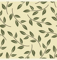 seamless pattern with minimalistic leaves vector image vector image