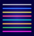 set of color laser beams neon tube light vector image