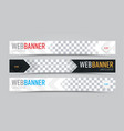 set of horizontal web banners with place for vector image