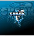 shark esport mascot logo design vector image vector image