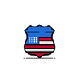 shield sign usa security business logo template vector image vector image