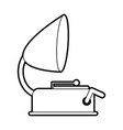 sketch silhouette image old gramophone musical vector image vector image