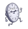 Smiling clock is running vector image vector image
