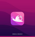 snail music icon application template vector image