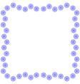 snowflake frame 3111 vector image vector image