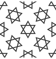 Star of David icon pattern on white background vector image