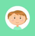 teenager face smiling boy emotion kid vector image