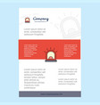 template layout for alarm comany profile annual vector image vector image