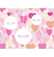 textured fabric hearts heart silhouette pattern vector image vector image