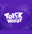 trick or treat template with calligraphic logo vector image vector image