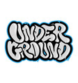 under ground vector image vector image