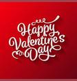 valentines day oblique lettering handwritten vector image vector image