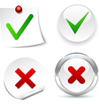 Validation Icons vector image vector image