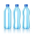 Water bottles on white vector image