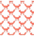Watercolor seamless pattern with foxes on the vector image vector image