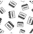 wednesday calendar page seamless pattern vector image