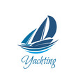 yacht club sport yachting icon vector image vector image