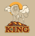 king of the jungle vector image