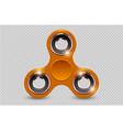 fidget finger spinner stress relief hand toy vector image