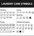 Icon set of laundry symbols Washing instruction vector image