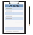 Tax form and pencil vector image