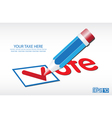 Ballot Vote Background vector image