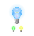 colorful blue green yellow bulbs vector image