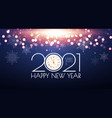 2021 happy new year bokeh background shining vector image