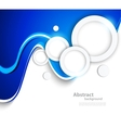 Abstract wavy background with circles vector image