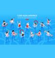 aqua aerobics isometric horizontal vector image vector image