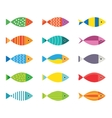 Aquarium fish icons set vector image vector image
