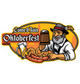 badge of oktoberfest vector image vector image