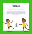 banner with indian boys playing football vector image vector image
