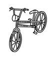 bicycle beach icon doodle hand drawn or outline vector image
