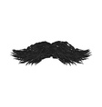 Black Mustache isolated on white background vector image