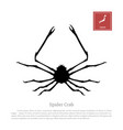 black silhouette of a japanese spider crab vector image