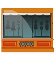 boutique clothing or sewing studio exterior vector image