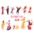 carnival party set vector image vector image